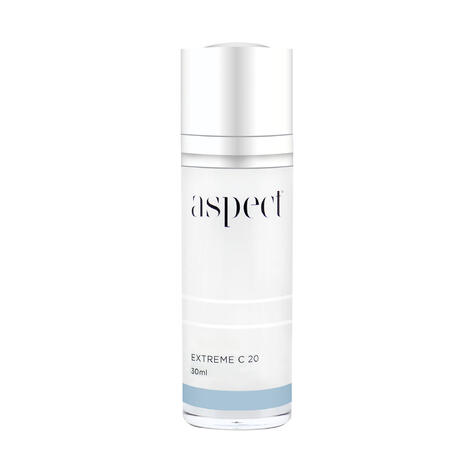 Aspect Extreme C serum, an antioxidant serum with vitamin c and peptides.