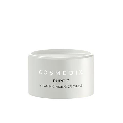 Cosmedix Pure C mixing crystals with 100% pure L-Ascorbic Acid.