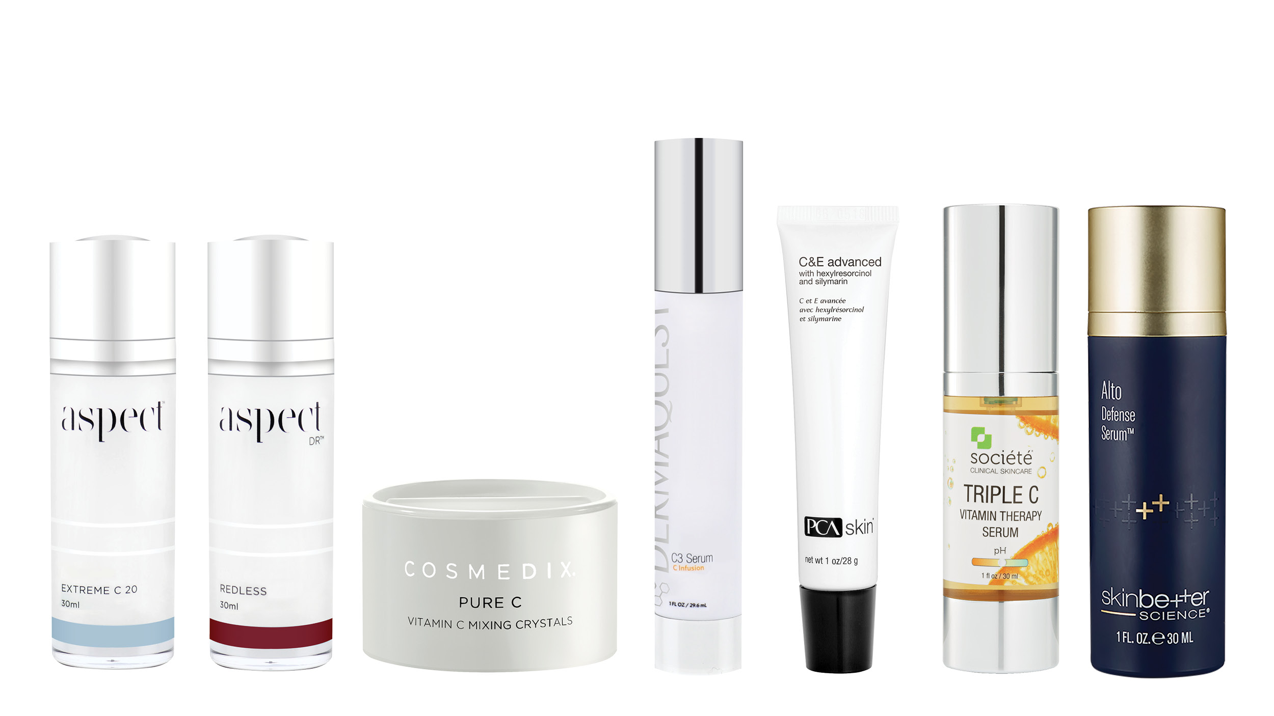 The AST Antioxidant skincare lineup. Aspect Dr, Cosmedix, Dermaquest, PCA skin, Societe. Learn more about antioxidant skincare here.